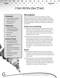 Writing Lesson Level 3 Author Mentors Book PDF
