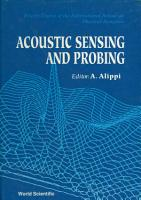 Acoustic Sensing And Probing   4th Course Of The International School On Physical Acoustics PDF