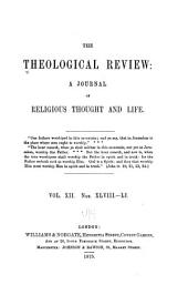 The Theological Review: Volume 12