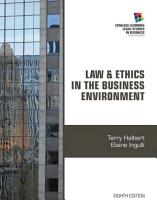 Law and Ethics in the Business Environment PDF