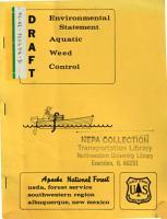 Apache National Forest  N F    Aquatic Weed Control PDF