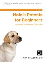 Nolo s Patents for Beginners PDF