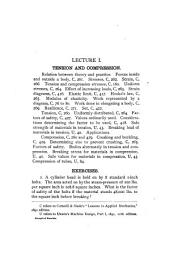 Syllabus of a Course of Six Lectures on the Strength of Materials
