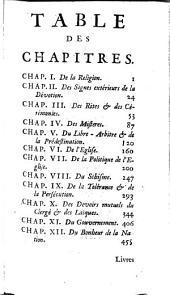 Pensées libres sur la religion, l'église et le bonheur de la nation: Volume1