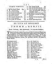 Ven. Viri Thomae Malleoli A Kempis ... Opera omnia: Ad Autographa eiusdem emendata, aucta, & in Tres Tomos distributa, Volume 1