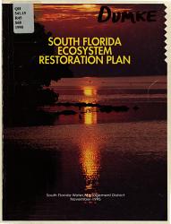 South Florida Ecosystem Restoration Plan PDF