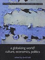 A Globalizing World  PDF