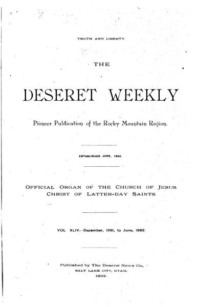 Download The Deseret Weekly Book