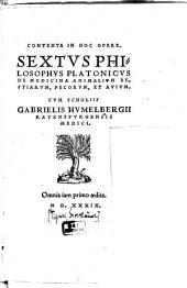 De Medicina Animalium, Bestiarum, Pecorum, Et Avium