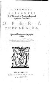 Opera theologica