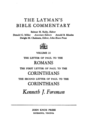 The Layman s Bible Commentary PDF