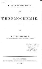 Lehr- und Handbuch der Thermochemie