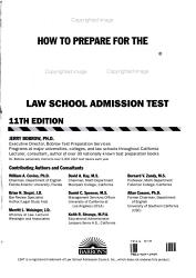 How To Prepare For The Lsat Law School Admission Test Book PDF