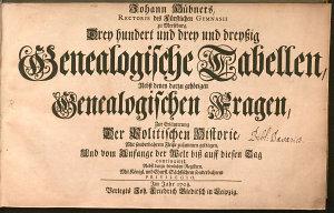 Drey hundert und drey und drey  ig Genealogische Tabellen PDF