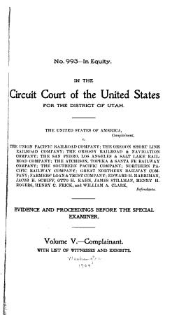 The United States of America  Complainant  V  the Union Pacific Railroad Company PDF