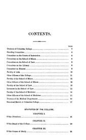 Statutes of Columbia College and Its Associated Schools