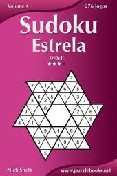 Sudoku Estrela - Difícil - Volume 4 - 276 Jogos