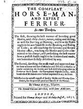 The Compleat Horseman and Expert Ferrier, etc