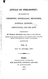 The Annals of Philosophy: Volume 10