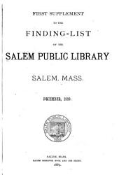 Finding-list of the Salem Public Library: Supplement