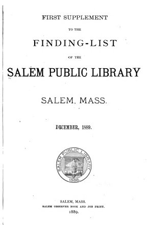 Finding list of the Salem Public Library PDF