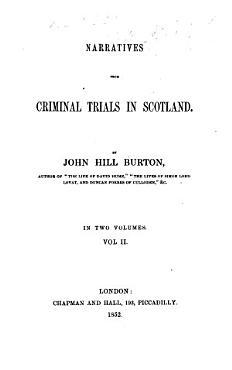 Narratives from Criminal Trials in Scotland PDF