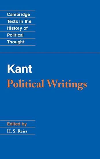 Kant  Political Writings PDF
