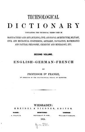Technologisches W  rterbuch PDF