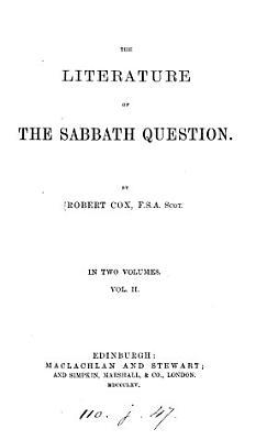 The literature of the sabbath question
