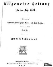 Allgemeine Zeitung München: 1844, 4 - 6