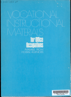 Vocational Instructional Materials for Office Occupations Available from Federal Agencies PDF