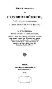 Etudes pratiques sur l'hydrothérapie: d'après les observations recueillies à l'établissement de Pont-à-Mousson