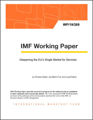 Deepening the EU   s Single Market for Services PDF