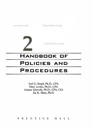 GAAP Handbook of Policies and Procedures  2002 PDF