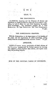 Elements of General Knowledge: Introductory to Useful Books in the Principal Branches of Literature and Science. With Lists of the Most Approved Authors; Including the Best Editions of Th Classics. Designed Chiefly for the Junior Students in the Universities, and the Higher Classes in Schools, Volume 1