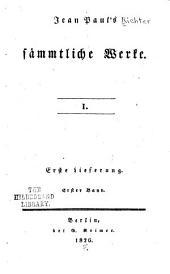 Jean Paul's sämmtliche werke: Bände 1-3