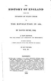 The History of England: From the Invasion of Julius Caesar to the Revolution in 1688, Volume 4