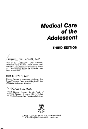 Medical Care of the Adolescent