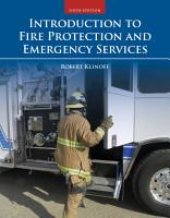 Introduction to Fire Protection and Emergency Services PDF