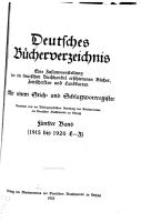 Deutsches b  cherverzeichnis  eine zusammenstellung der im deutschen buchhandel erschienenen b  cher  zeitschriften und landkarten  1915 1920  L Z PDF