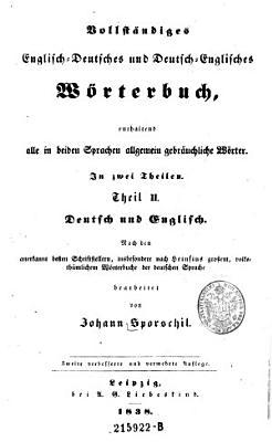 Theil II Deutsch und Englisch