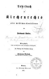 Lehrbuch des Kirchenrechts aller christilichen Confessionen