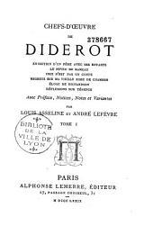 Chefs-d'oeuvre de Diderot ...: avec préface, notices, Volume1
