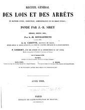 Recueil général des lois et des arrêts