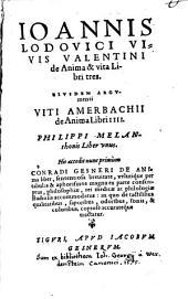 De Anima et Vita libri tres