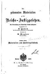 Die gesammten Materialien zu den Reichsjustizgesetzen: Materialien zum Handelsgesetzbuch. 1897