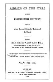 Annals of the Wars of the Eighteenth Century, Compiled from the Most Authentic Histories of the Period: 1796-1799. V