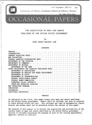 The Acquisition of Maps and Charts Published by the United States Government PDF