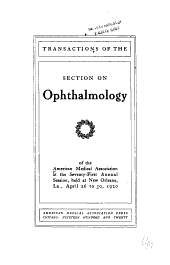 Transactions of the Section on Ophthalmology of the American Medical Association