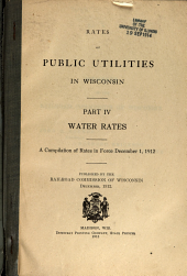 Water rates. A compilation of rates in force December 1, 1912